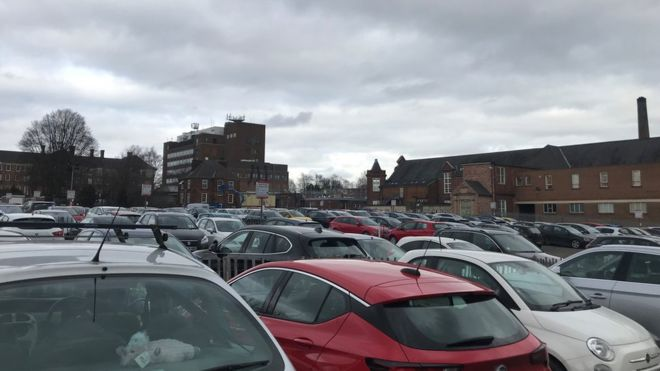 Lincoln County Hospital car park not fit for purpose