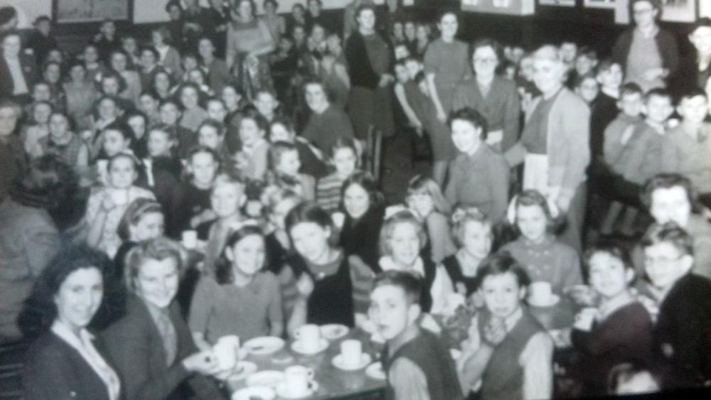 Skellingthorpe Christmas party, 1946