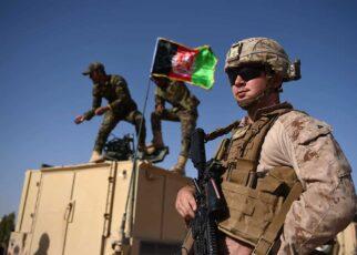 US with Afghan flag